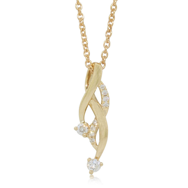 18ct Yellow Gold .10ct Diamond Pendant - Walker & Hall