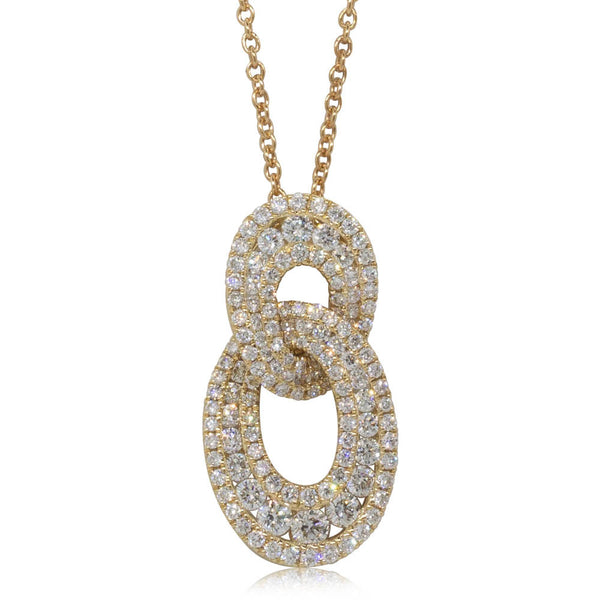 18ct Yellow Gold .96ct Diamond Pendant - Walker & Hall