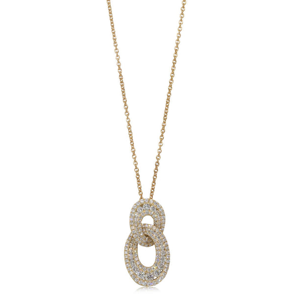 18ct Yellow Gold Diamond Pendant - Walker & Hall