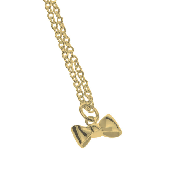 Stolen Girlfriends Club Baby Bow Necklace - 9ct Yellow Gold - Walker & Hall