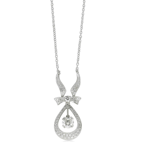 18ct White Gold 1.81ct Diamond Pendant - Walker & Hall