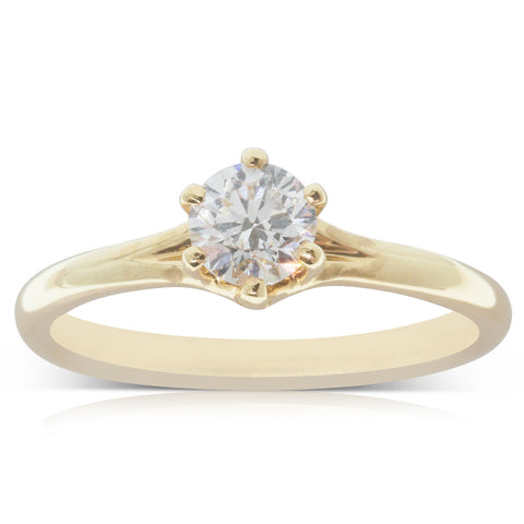 18ct Yellow Gold .53ct Diamond Grace Ring - Walker & Hall