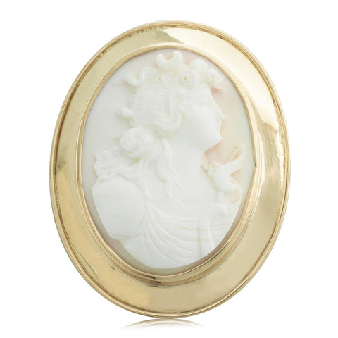 Vintage 15ct Yellow Gold Cameo Brooch - Walker & Hall