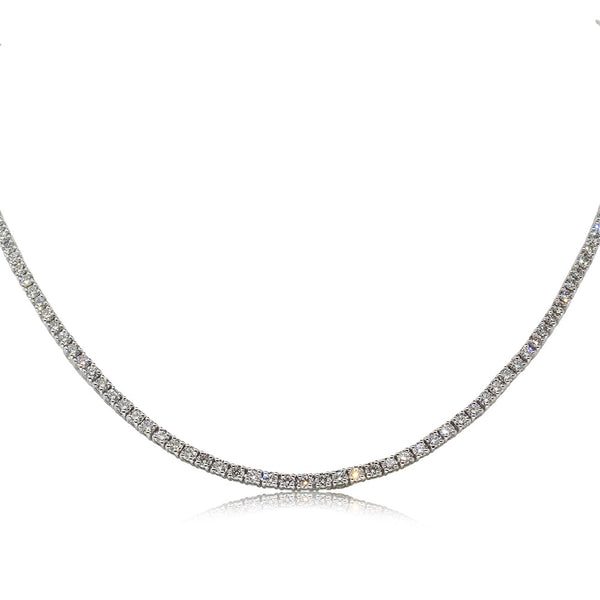 18ct White Gold 8.24ct Diamond Necklace - Walker & Hall