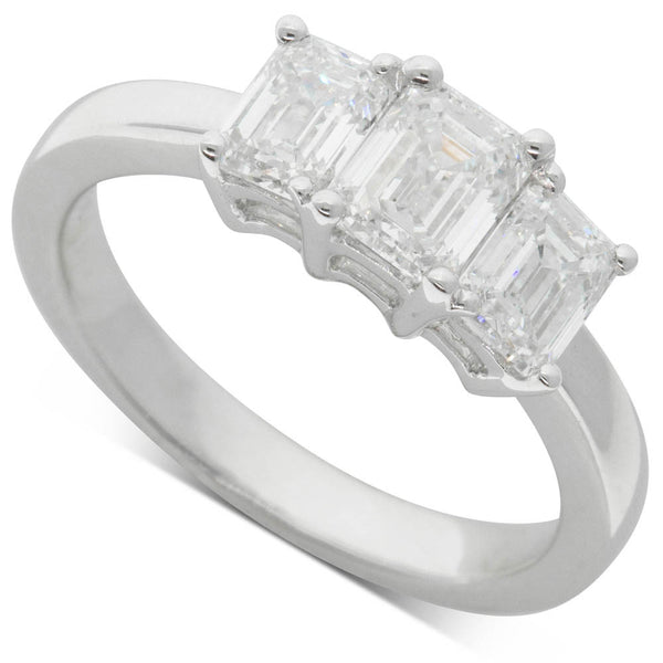 18ct White Gold 1.73ct Diamond Odyssey Ring - Walker & Hall