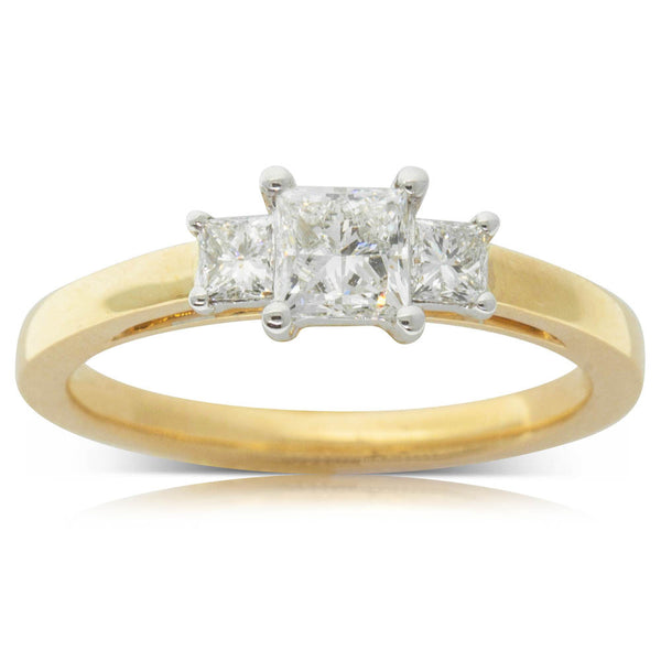18ct White & Yellow Gold .50ct Diamond Olympus Ring