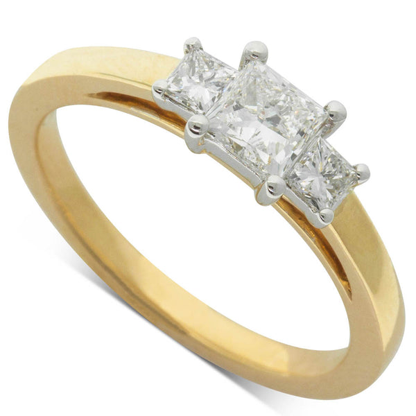18ct White & Yellow Gold .50ct Diamond Olympus Ring - Walker & Hall