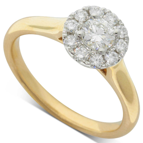 18ct Yellow Gold .30ct Diamond Eclipse Ring - Walker & Hall