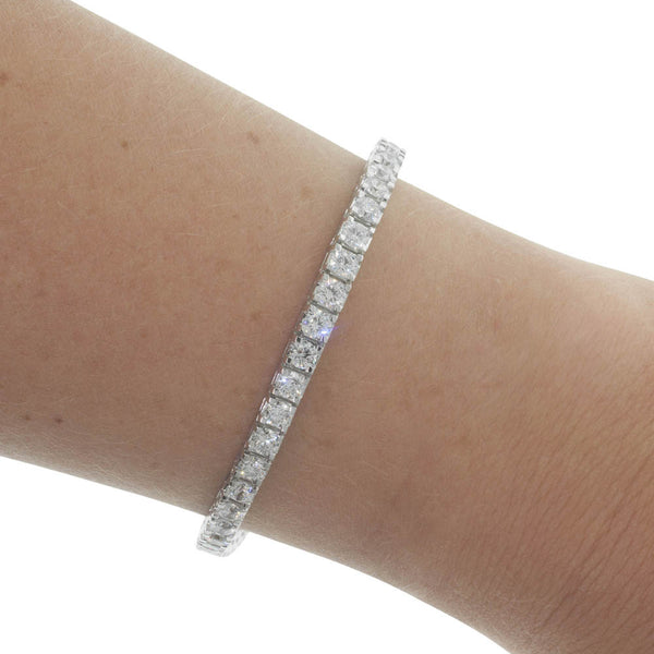 18ct White Gold 5.89ct Diamond Jubilee Bracelet