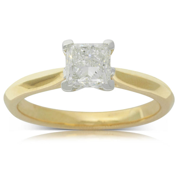 18ct Yellow Gold 1.02ct Diamond Venetian Ring - Walker & Hall