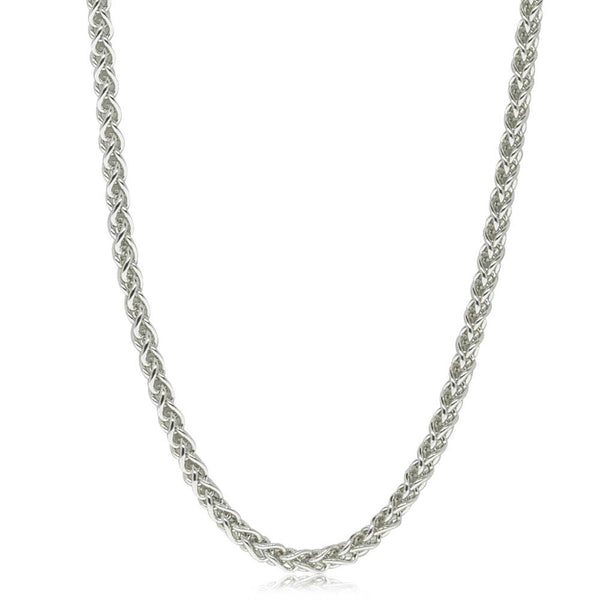 9ct White Gold 1mm Wheat Link Chain - Walker & Hall