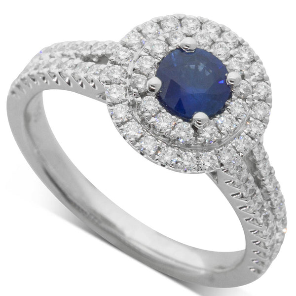 18ct White Gold .46ct Sapphire Altura Ring - Walker & Hall