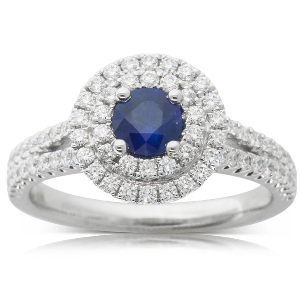 18ct White Gold .46ct Sapphire Altura Ring