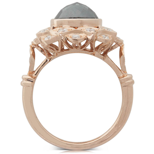 18ct Rose Gold 2.55ct Diamond Mayfair Ring - Walker & Hall