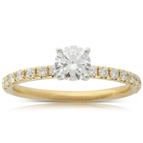18ct Yellow Gold .50ct Diamond Comet Ring - Walker & Hall