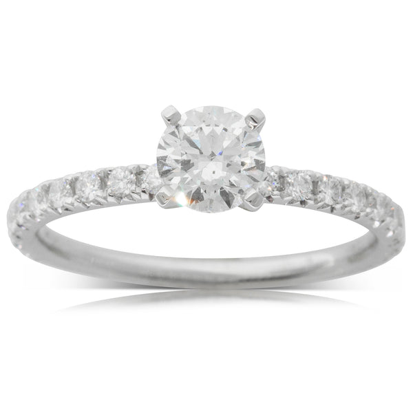 18ct White Gold .59ct Diamond Comet Ring