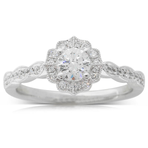 18ct White Gold .38ct Diamond Paramount Ring