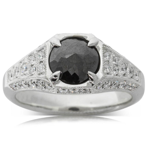 18ct White Gold 1.53ct Black Diamond Ring