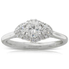 18ct White Gold .44ct Diamond Posie Ring - Walker & Hall