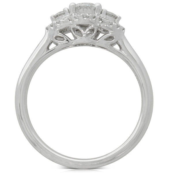 18ct White Gold .44ct Diamond Posie Ring