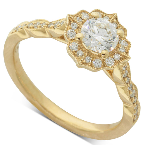 18ct Yellow Gold .53ct Diamond Paramount Ring
