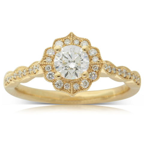 18ct Yellow Gold .50ct Diamond Paramount Ring - Walker & Hall