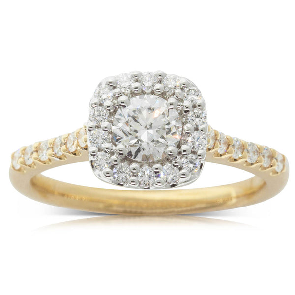 18ct Yellow Gold .50ct Diamond Manhattan Ring