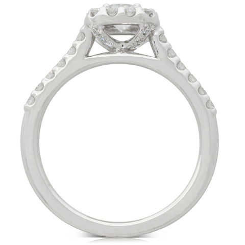18ct White Gold .40ct Diamond Manhattan Ring - Walker & Hall