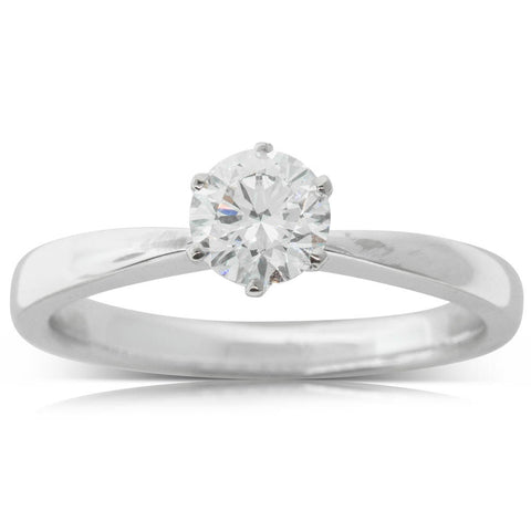 18ct White Gold .62ct Diamond Nova Ring - Walker & Hall