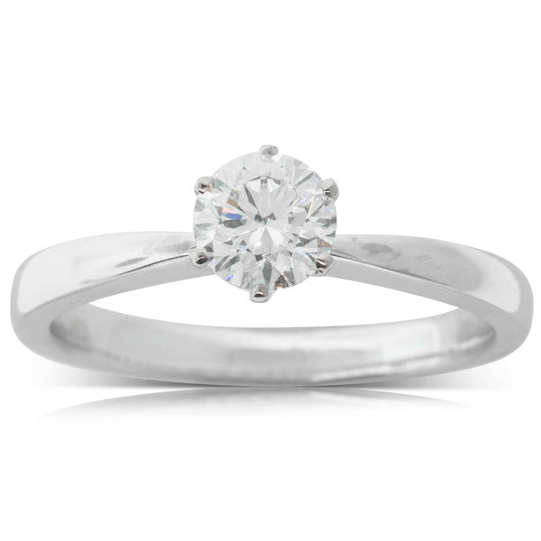 18ct White Gold .61ct Diamond Nova Ring - Walker & Hall