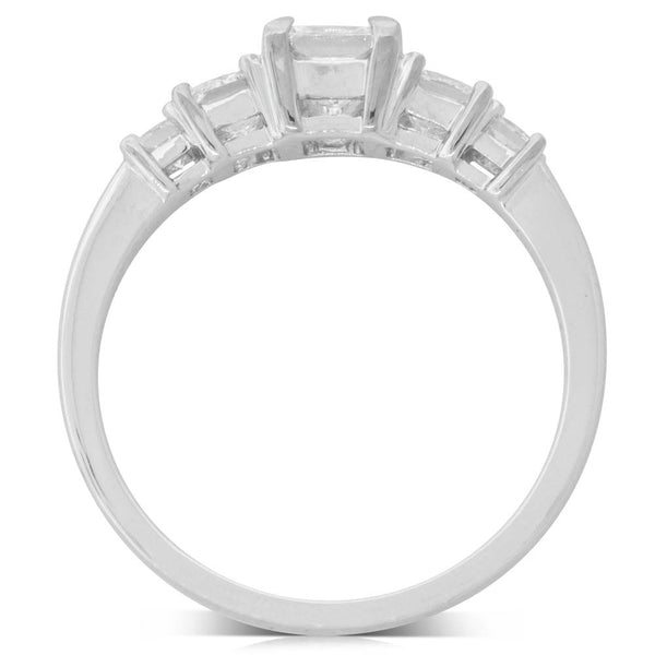 18ct White Gold 1.10ct Diamond Ring - Walker & Hall