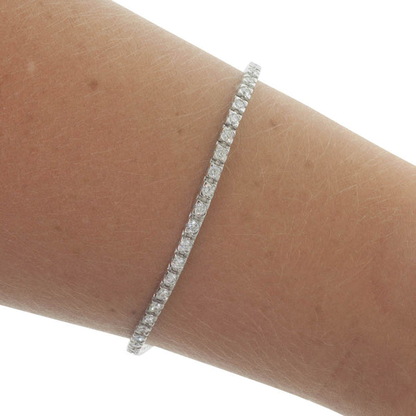 9ct White Gold 2.00ct Diamond Bracelet - Walker & Hall
