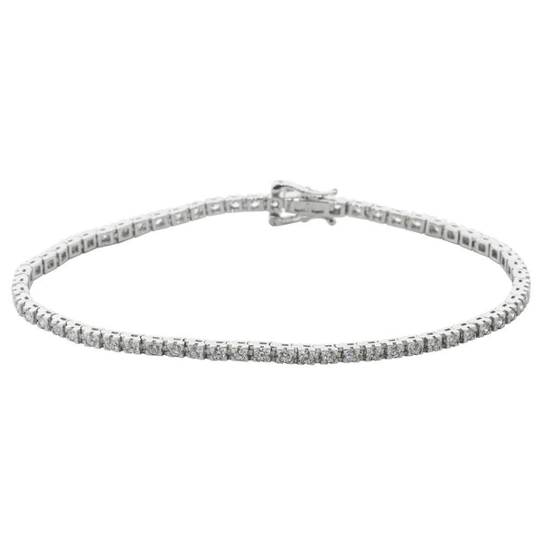 9ct White Gold 2.00ct Diamond Bracelet