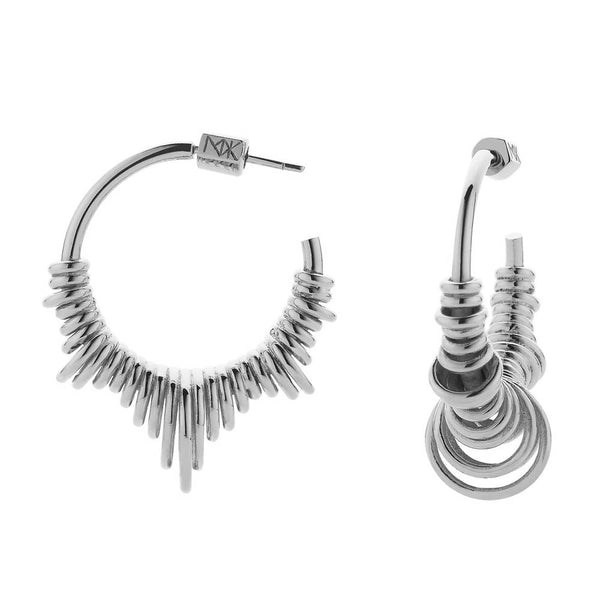 Meadowlark Revival Hoop Earrings Medium - Sterling Silver