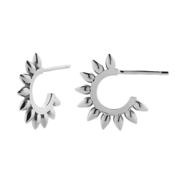 Meadowlark Revival Spike Earrings - Sterling Silver - Walker & Hall