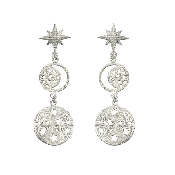 Zoe & Morgan Tara Earrings - Sterling Silver - Walker & Hall