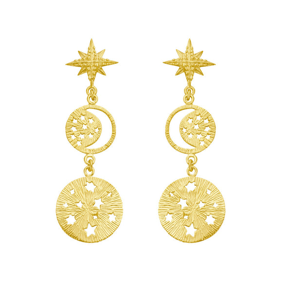 Zoe & Morgan Tara Earrings - 22ct Yellow Gold Plated - Walker & Hall