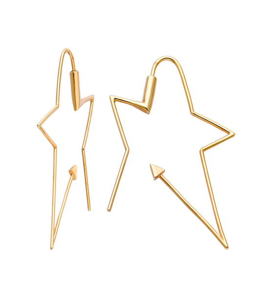 Karen Walker Ziggy Hoops - 9ct Yellow Gold