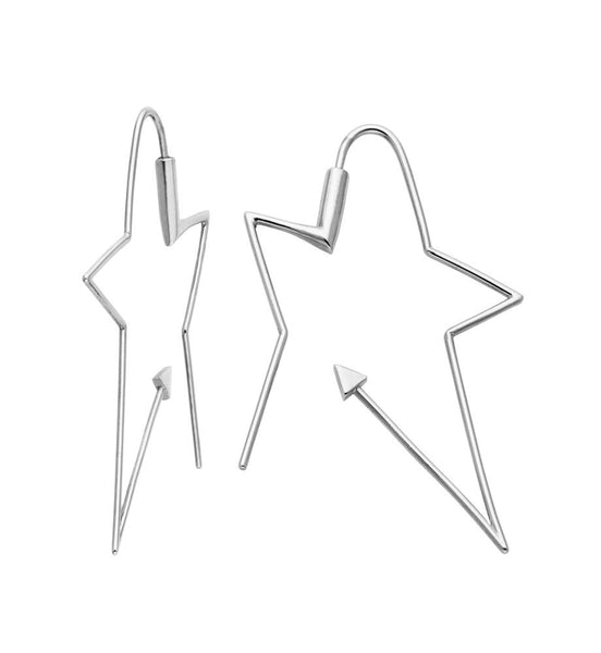 Karen Walker Ziggy Hoops - Sterling Silver - Walker & Hall