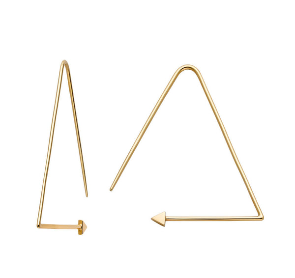 Karen Walker Equilateral Hoops - 9ct Yellow Gold