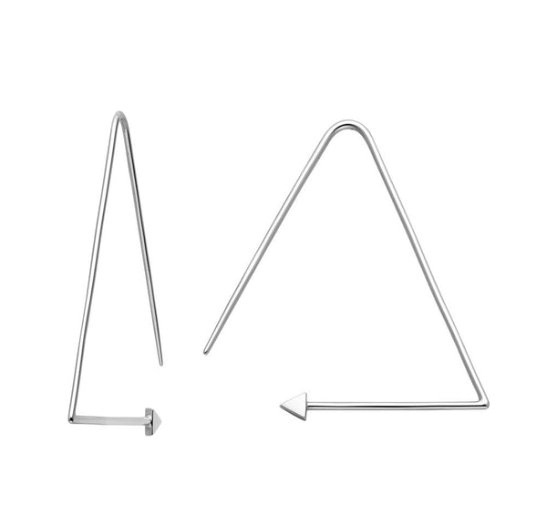 Karen Walker Equilateral Hoops - Sterling Silver - Walker & Hall