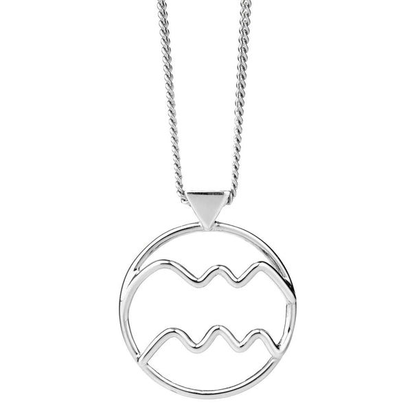 Karen Walker Aquarius Necklace - Sterling Silver - Walker & Hall