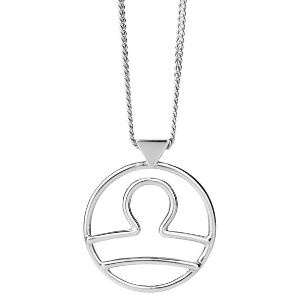 Karen Walker Libra Necklace - Sterling Silver - Walker & Hall