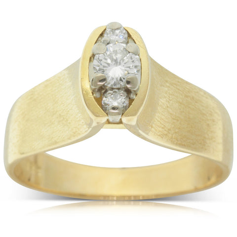 Vintage 18ct Yellow Gold .19ct Diamond Ring - Walker & Hall