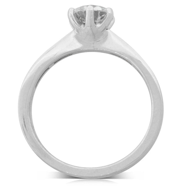 18ct White Gold 1.00ct Diamond Avalon Ring - Walker & Hall
