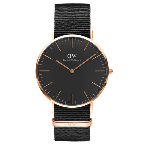 Daniel Wellington Classic Black Cornwall 40mm Watch - Walker & Hall