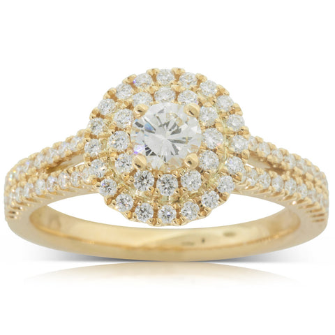 18ct Yellow Gold .31ct Diamond Altura Ring - Walker & Hall