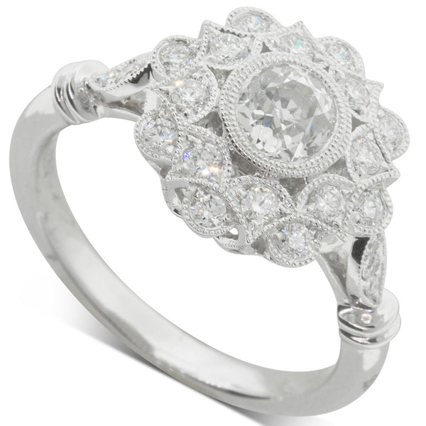 18ct White Gold .59ct Diamond Mayfair Ring