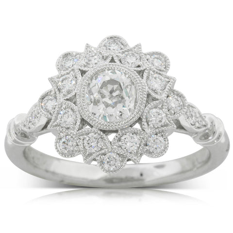 18ct White Gold .59ct Diamond Mayfair Ring - Walker & Hall