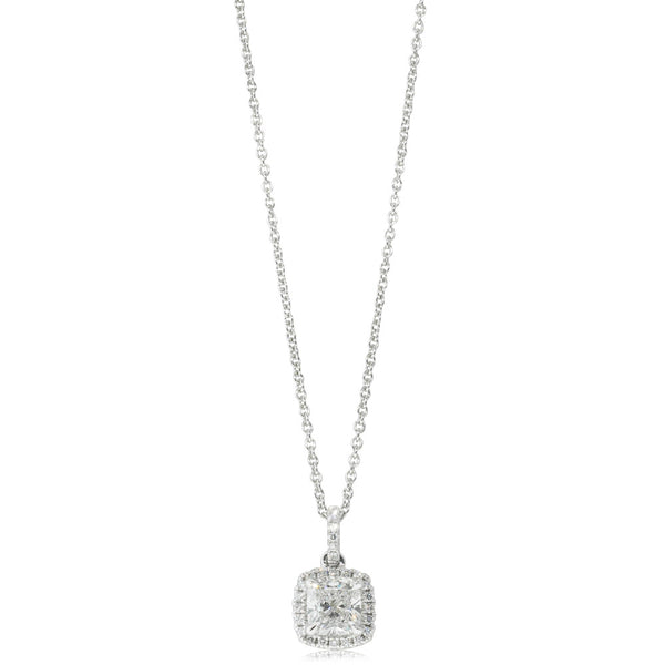 18ct White Gold 1.00ct Diamond Peony Pendant